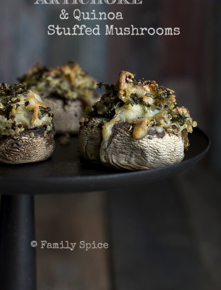 Artichoke and Quinoa Stuffed Mushrooms