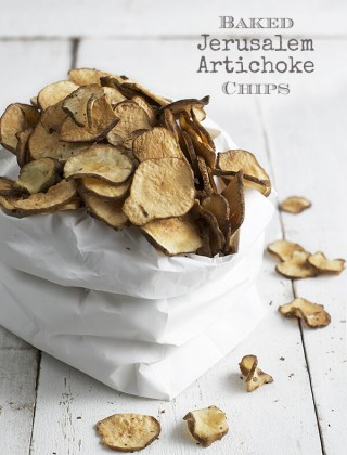 Low Carb Snack: Baked Jerusalem Artichoke Chips