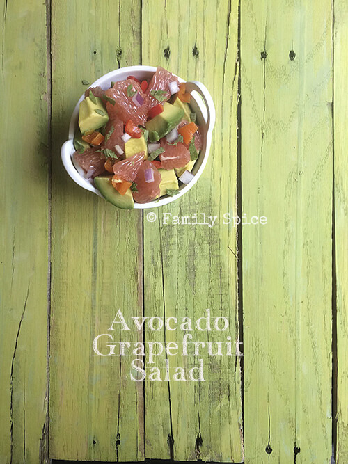 Avocado and Grapefruit Salad by FamilySpice.com