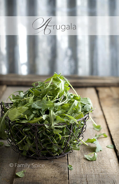 Arugula for The Egg BLT by FamilySpice.com