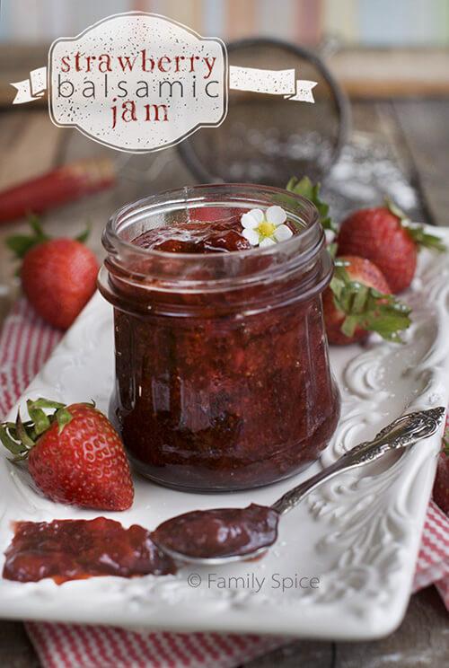 Strawberry Balsamic Jam by FamilySpice.com
