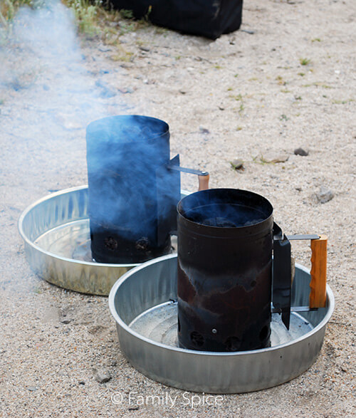 Coal chimneys are needed learn Dutch Oven with hot coals to learn How to Cook in a Dutch Oven - by FamilySpice.com