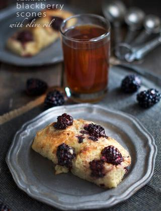 Balsamic Blackberry Scones with Olive Oil {Video}