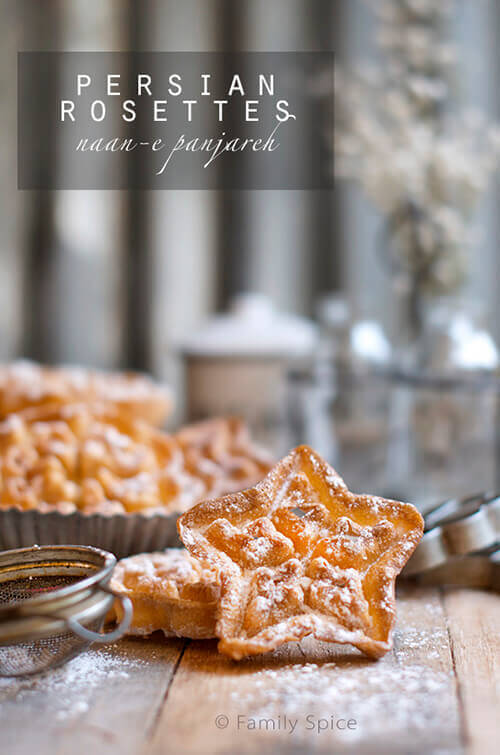 Persian Rosettes | Window Cookies (nan panjareh) by FamilySpice.com