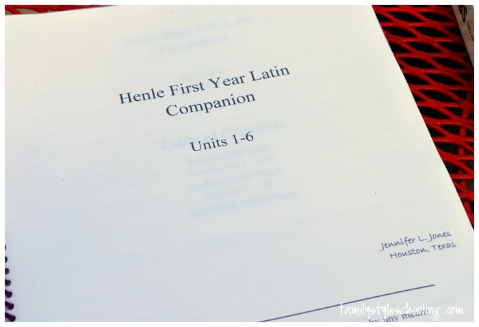 Henle Latin Companion