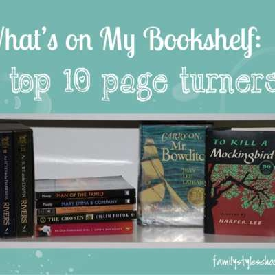 What's on My Bookshelf:  Top 10 Page turners!