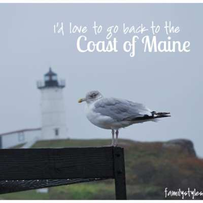 Vacation Quick Stops I'd Love to return to:  the Coast of Maine