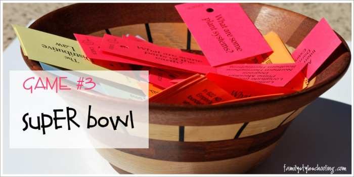 play Super Bowl with Classical Conversations flashcards