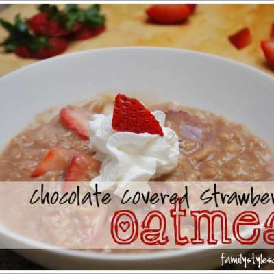 Sugar Free Chocolate Covered Strawberry Oatmeal