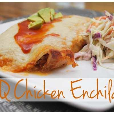 BBQ Chicken Enchiladas