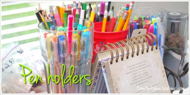 Schoolroom storage must haves pen holders