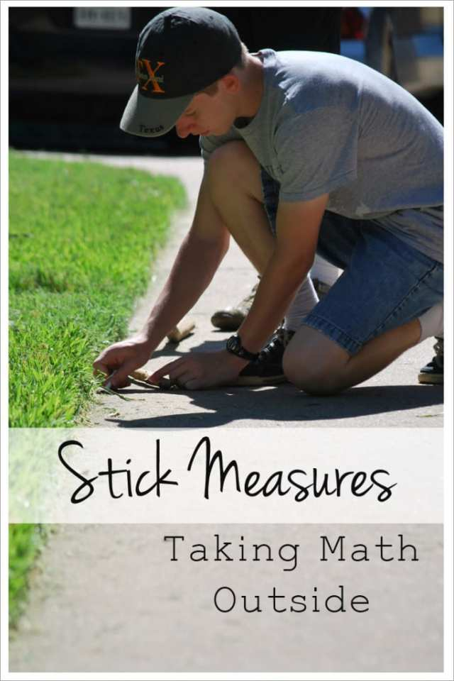 Stick Measures taking math outside
