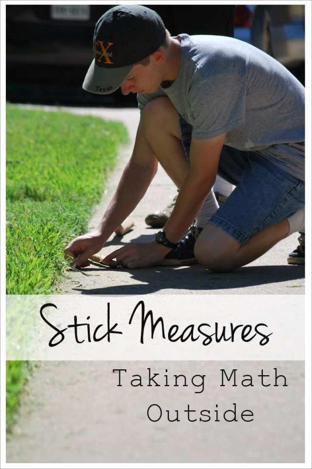 Stick Measures taking math outside