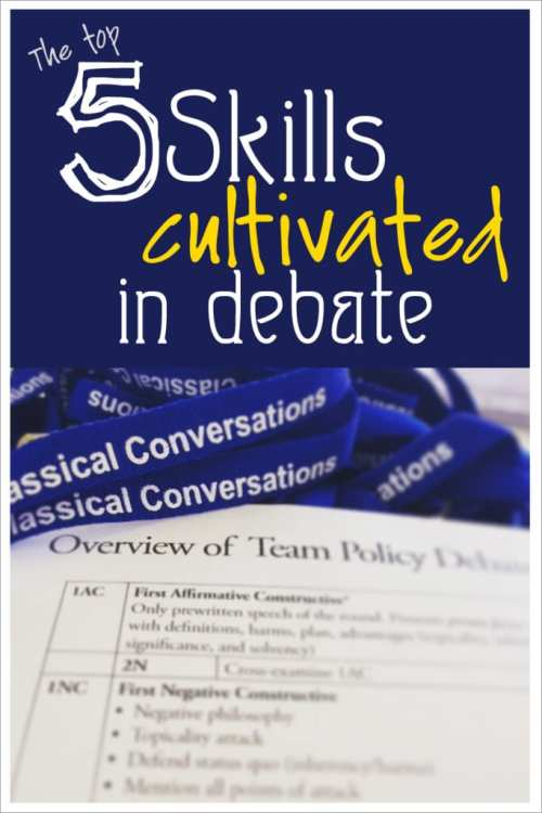 The top 5 skills cultivated in policy debate