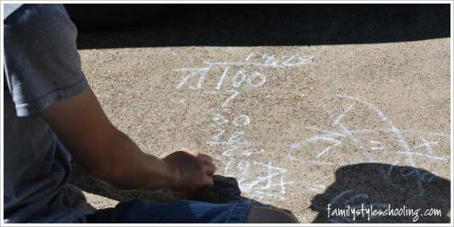 math outside calculating percentage on driveway
