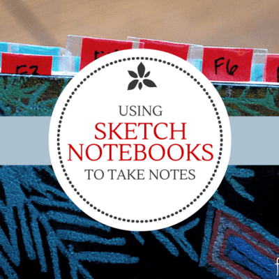Using a Sketch Notebook for Taking Notes