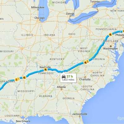 A Road Trip from Dallas to Boston