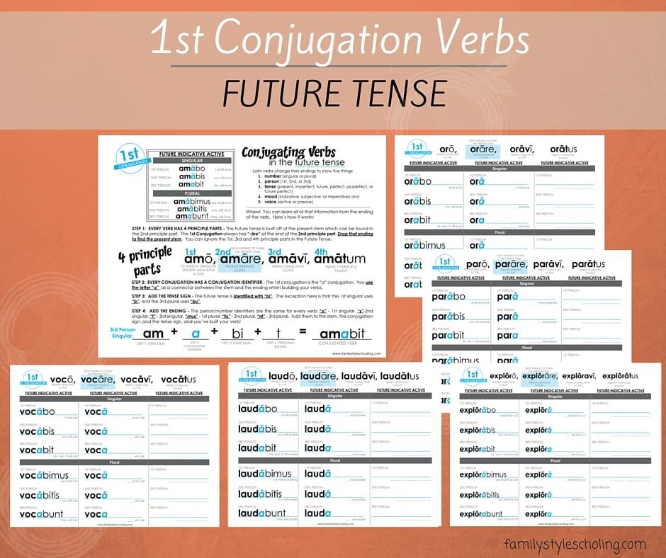 1st Conjugation Verbs Future Tense