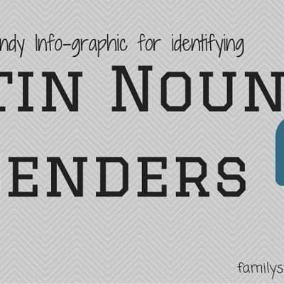 Identifying the Gender of Latin Nouns – an Infographic