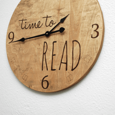 DIY Time to Read Clock…Because It's Always the Right Time to Read
