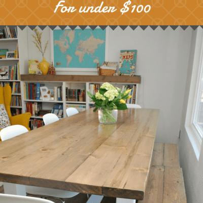 DIY Farmhouse Table for Under $100