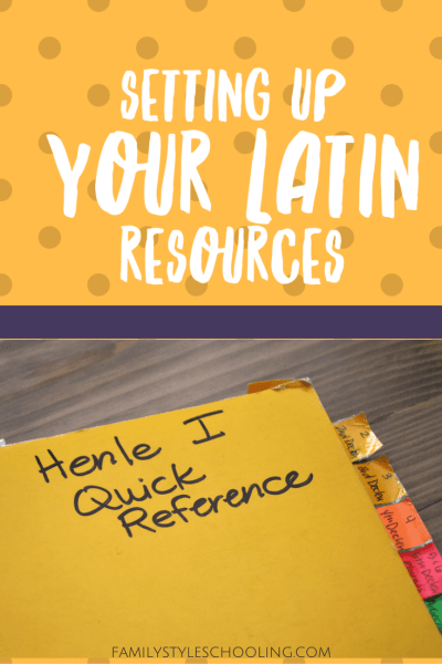 Setting Up Your Latin Resources