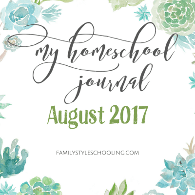 Homeschool Mother's Journal – August