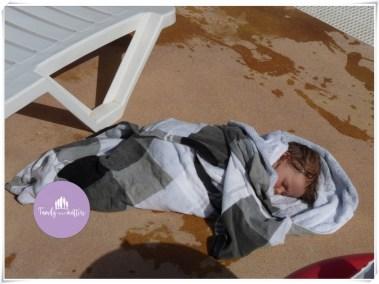 Sleeping near the pool