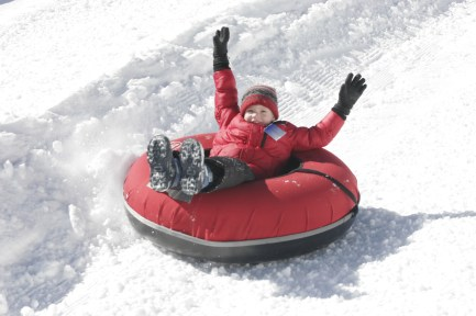 Snow tubing at Hawksnes