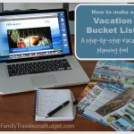How to make a vacation bucket list