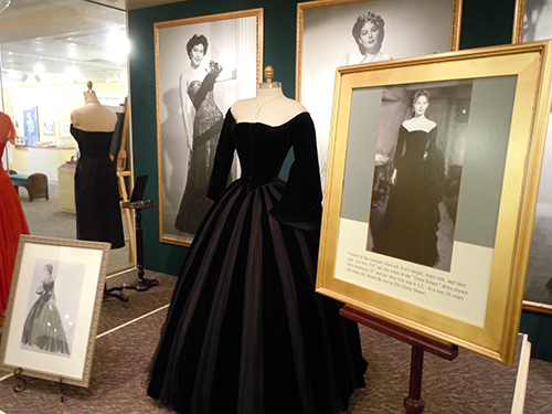 Ava Gardner's dress from The Great Sinner. Property of Ava Gardner Museum, used with permission