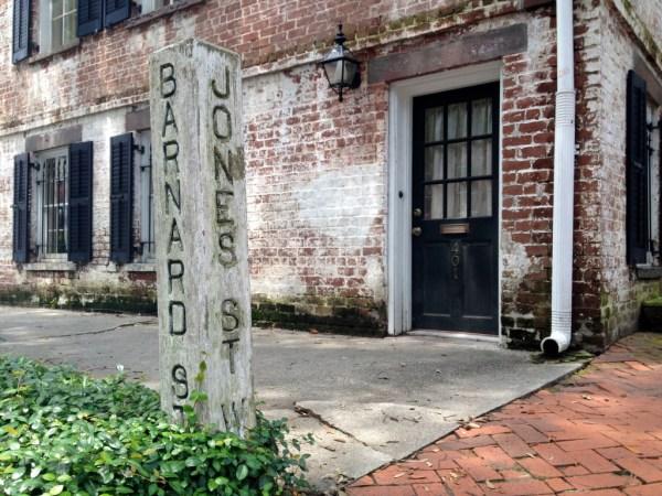 Historic street marker in Savannah