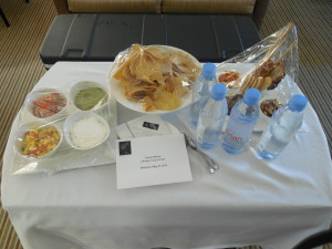 Our very yummy complimentary room service snacks