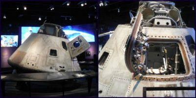 The actual 1973 Skylab 3 Apollo Command Module!