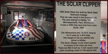 The solar-powered car that was built by members of my college :) (way before I was born, but still!)