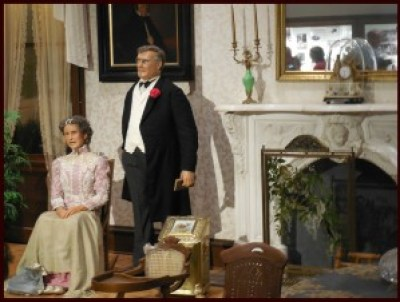 Mr. and Mrs. William McKinley, ready to welcome guests into their home.