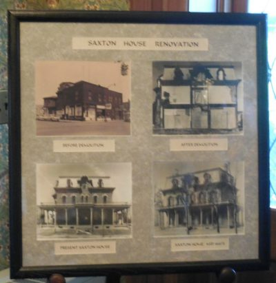 Some of the renovations that the Saxton House went through during its lifetime.