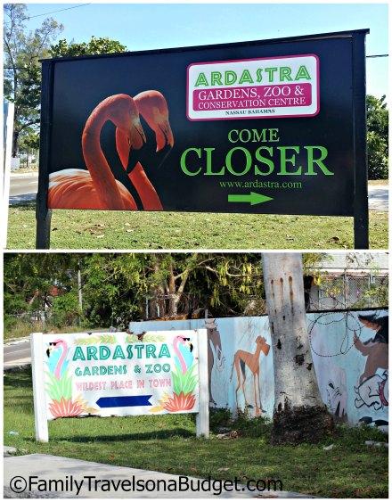 Ardastra Gardens signs
