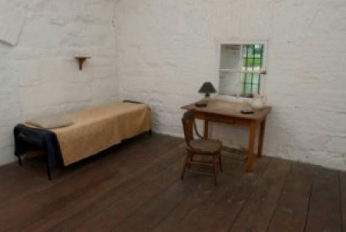 Jefferson Davis Cell at Fort Monroe Photo Courtesy of Hampton CVB