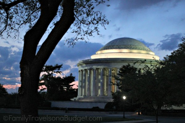 Jefferson Monuments by Moonlight
