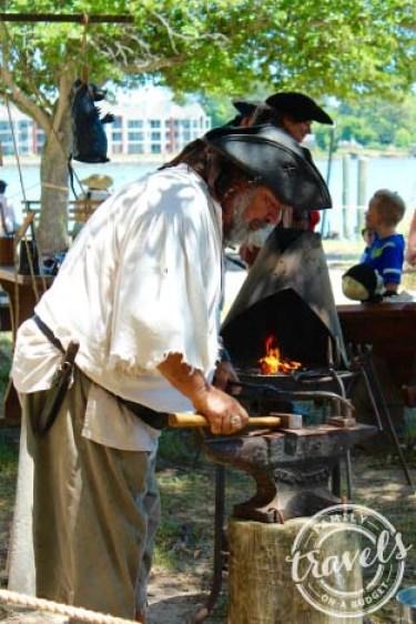 Blackbeard Pirate Festival in Hampton, VA ~ The blacksmith