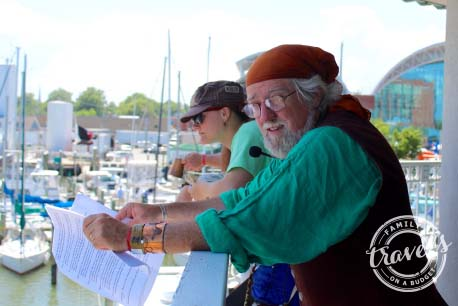 Narrator at the Blackbeard Pirate Festival 2015