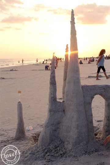 Siesta Beach sand castle