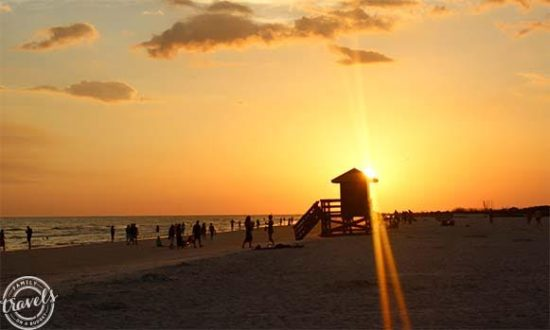 Lifeguard stand Siesta Beach silhouette