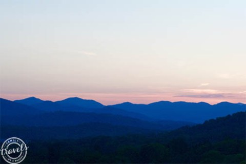 Sunset over the Blue Ridge Mountains in North Carolina
