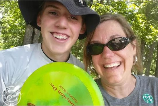 Summer vacation with Ben playing disc golf in Rockford