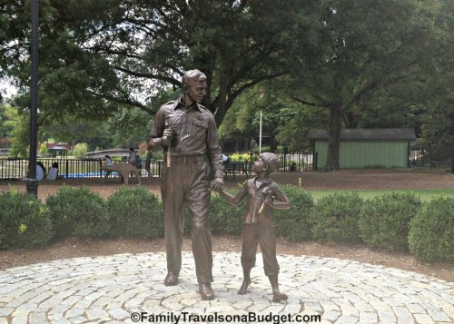 Pullen Park Andy and Opie Statue