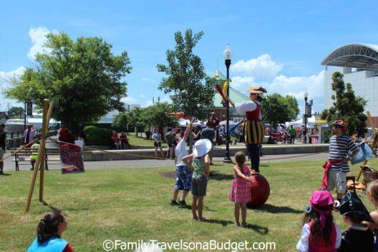 Children's area Blackbeard Pirate Festival in Hampton