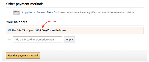 how to add gift card to groupon