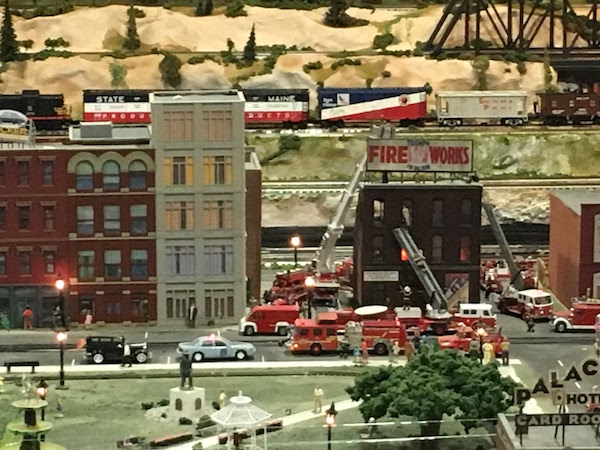 Fire department display in the Foley model train exhibit
